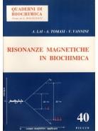 Risonanze Magnetiche in Biochimica