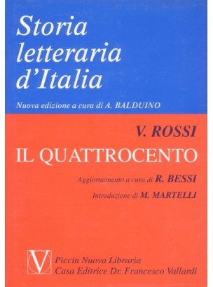 Storia Letteraria d'Italia - Il Quattrocento