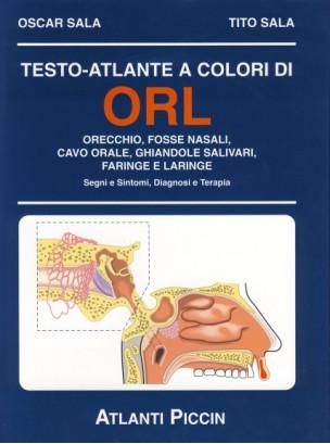 Testo atlante a colori di otorinolaringoiatria