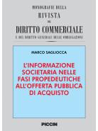 L'informazione societaria nelle fasi propedeutiche all'offerta pubblica di acquisto