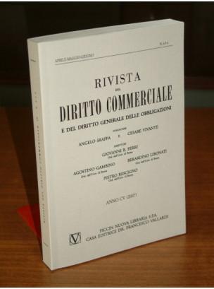 Rivista del Diritto Commerciale e del Diritto Generale delle Obbligazioni