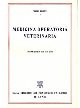 Medicina Operatoria Veterinaria