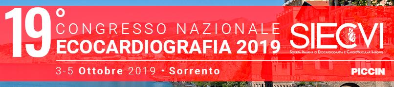 19° CONGRESSO NAZIONALE SIECVI- Ecocardiografia 2019