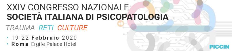 XXIV Congresso Nazionale Società Italiana di Psicopatologia-19-22 Febbraio 2020-Roma