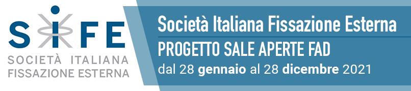 Società Italiana Fissazione Esterna-Progetto Sale Aperte FAD-Dal 28 Gennaio al 28 Dicembre 2021